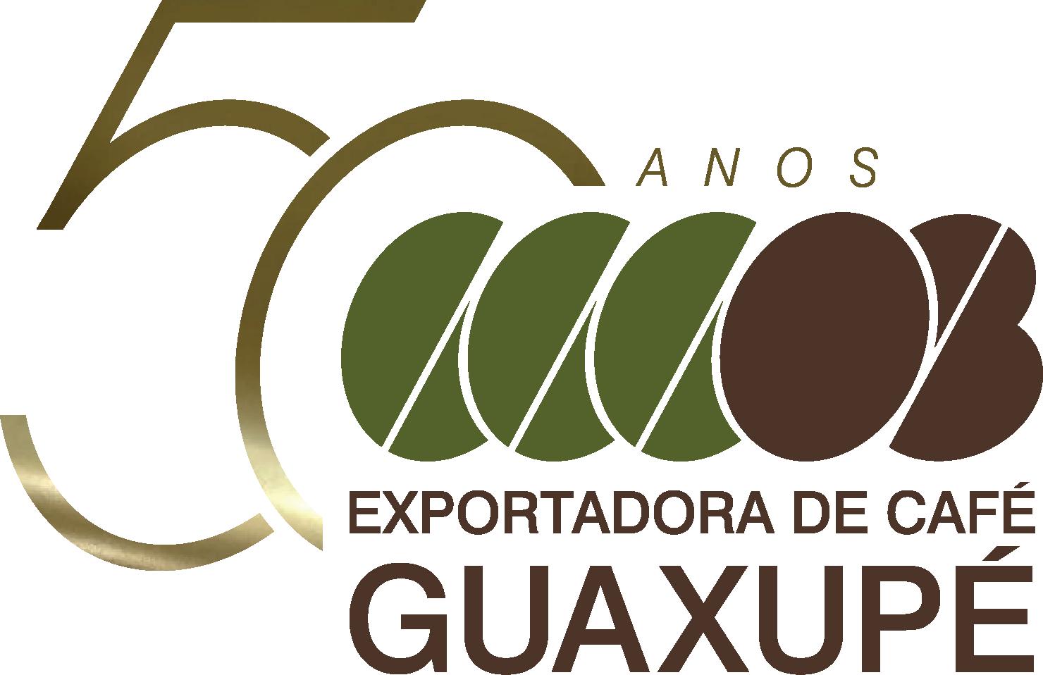 Logo 50 aniversario Exportadora de Café Guaxupe